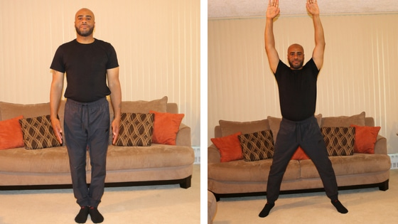 jumping jacks exercise steps