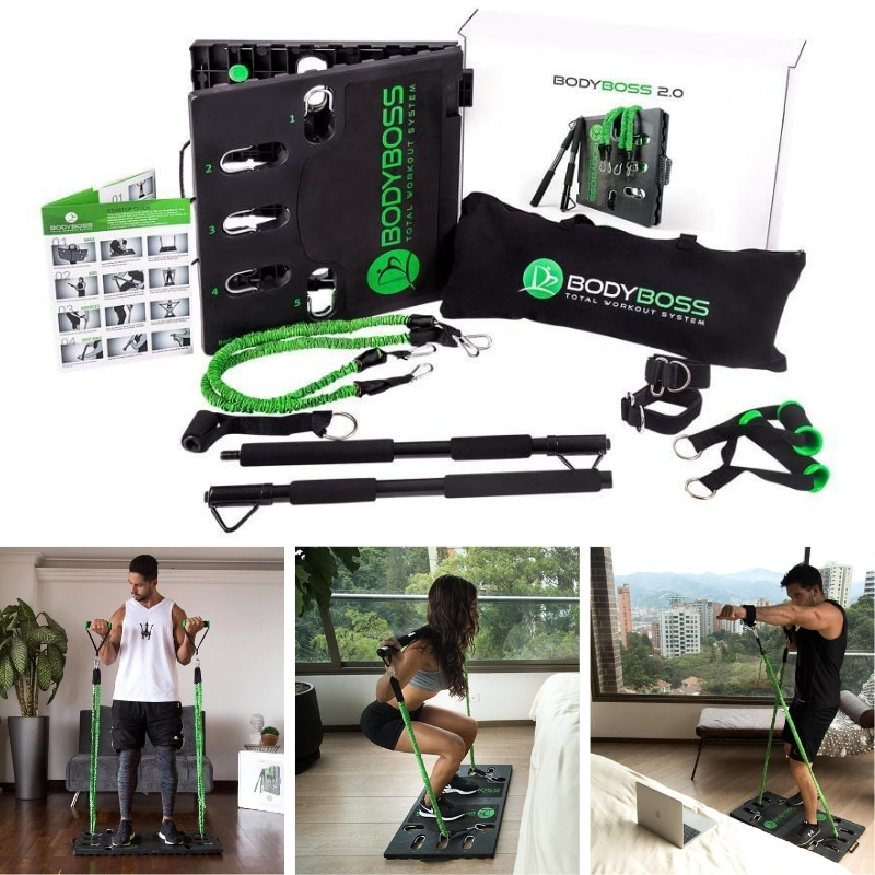 bodyboss home gym 2.0 - Resistance Band Home Gym