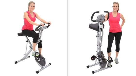 exerpeutic folding magnetic upright bike with pulse – best folding exercise bike